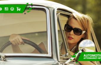 femeie, volan, condus